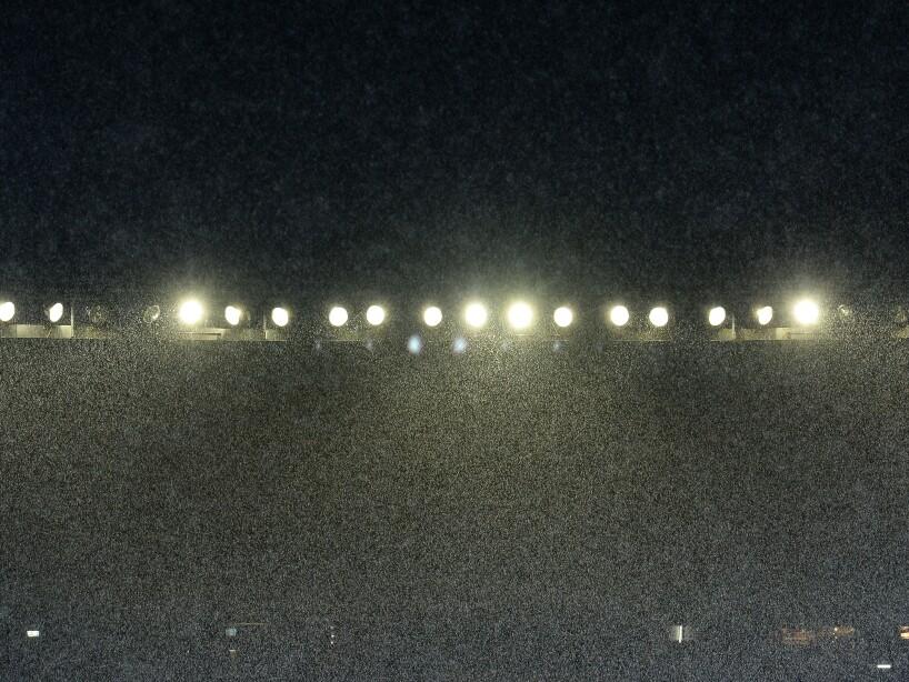 El Estadio Morelos, invadido por lluvia