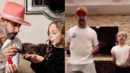 AJ McLean, de los Backstreet Boys, se avienta bailecito de Halloween con su hija