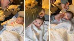Gianluca Vacchi se convierte en estilista y le corta por primera vez el cabello a su hija, Blu Jerusalema