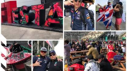 Aficionados conviven en familia previo al inicio de la Fórmula 1 en el Autódromo Hermanos Rodríguez.