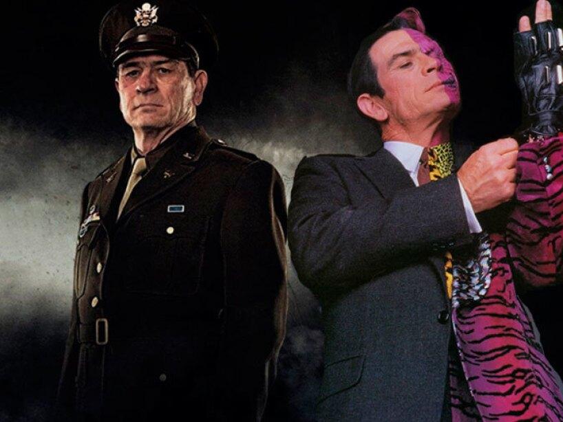 Tommy Lee Jones como Two Face y Coronel Chester Phillips en Captain America.