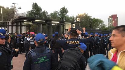Las autoridades están listas para contener a las porras más bravas del fútbol mexicano.