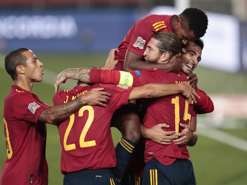 APTOPIX Spain Ukraine Nations League Soccer