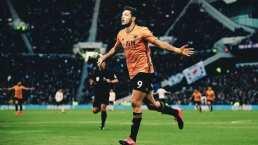 Raúl Jiménez aúlla con los Wolves y marca su gol 13
