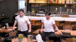 Estos bailarines dieron clases de bachata en un restaurante