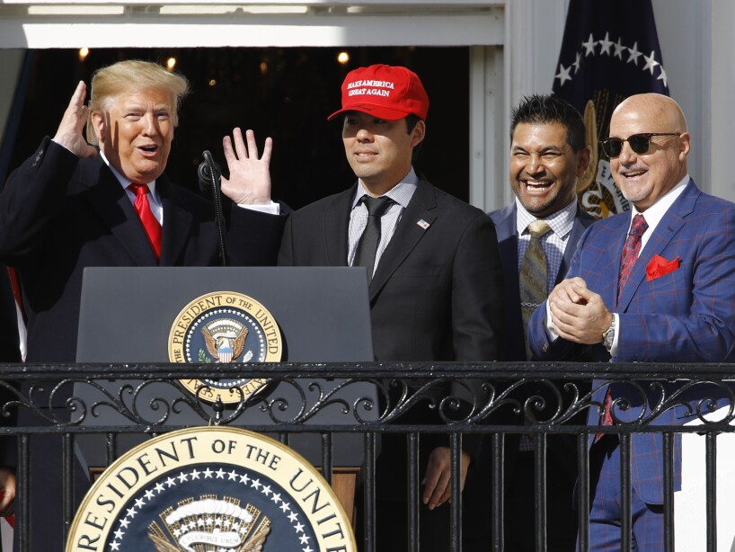 Donald Trump, Kurt Suzuki, Dave Martinez, Mike Rizzo