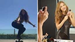 Shakira presume a sus fans sus habilidades en la patineta