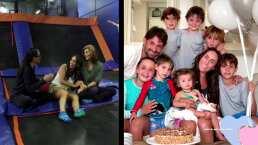 Inés Gómez Mont y sus seis hijos en Montse & Joe