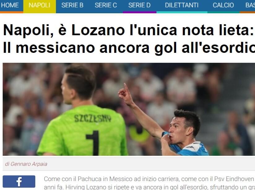 'Chuky' marca en su debut con el Napoli ante la Juve de Cristiano