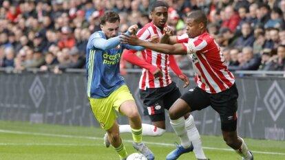 El PSV Eindhoven empató 1-1 con el Feyenoord en la jornada 25 de la Eredivisie.