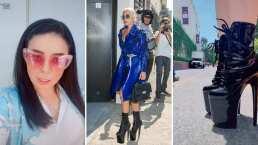 Al estilo de Lady Gaga, Violeta Isfel demuestra que es una fregona corriendo en tacones