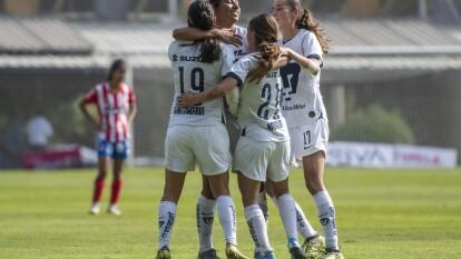 Con goles de Estéfany Hernández y Edna Santamaría, las Pumas vencen al San Luis 2-0, en la jornada 12.
