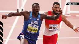¡Dramático final! Holloway, campeón del mundo en 110m vallas