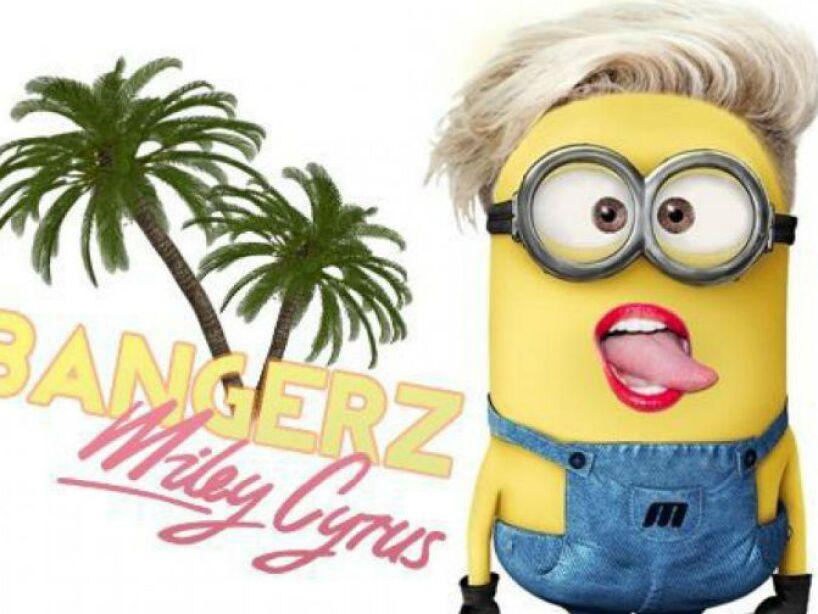 Miley Cyrus: La polémica cantante también fue inmortalizada en versión amarilla, ¡con todo y lengua!