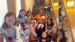 Chiquis festeja halloween vestida de calabaza, junto a su familia