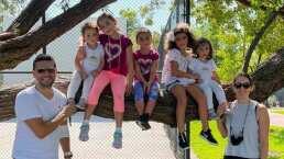 Desde una tirolesa, Jacky Bracamontes y sus hijas se lanzaron a un cenote y así fue su increíble experiencia
