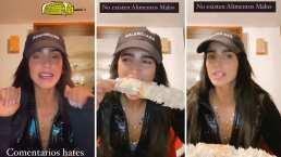 Bárbara de Regil le muestra a sus 'haters' que puede comerse un elote en tiempo récord
