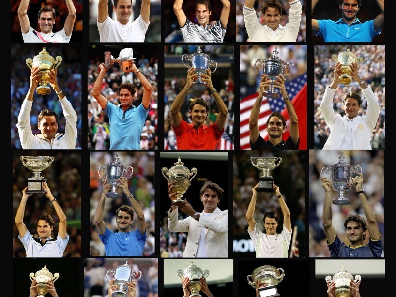 Roger Federer's 20 Grand Slams Titles
