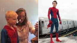 Tom Holland invita al niño que salvó a su hermana de ser mordida por un perro al set de 'Spider-Man 3'
