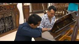 Las clases de piano y golf de Edwin Luna