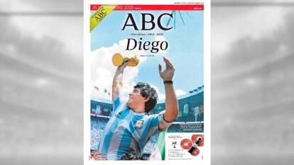 Las portadas de los periódicos del mundo sobre la muerte de Maradona.