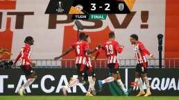 PSV Eindhoven derrota a PAOK con voltereta y sin 'Guti'