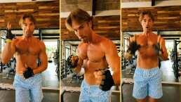 A sus 45 años, Sebastián Rulli presume su tonificado abdomen y se pone a bailar un cumbión