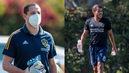 Así reaparecieron los futbolistas mexicanos de Los Ángeles Galaxy luego de un receso de más de dos meses.