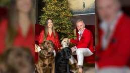 Con elegante árbol repleto de luces, Sharon Fonseca y Gianluca Vacchi están listos para Navidad
