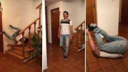 Miguel Martínez hace divertida parodia de cómo se vería una caída al estilo de 'La Rosa de Guadalupe'
