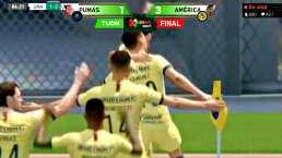 ¡El eClásico Capitalino es azulcrema! América vence 3-1 a Pumas