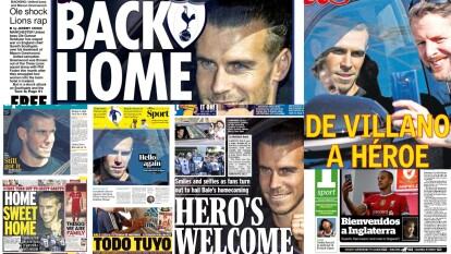Gareth Bale está por firmar con el Tottenham y así lo 'celebró' la prensa | Los tabloides internacionales reaccionaron al regreso del galés a la Premier League bajo la tutela de Mourinho.