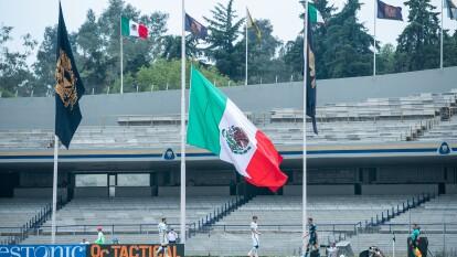 Así lucieron las banderas en los estadios conmemorando un aniversario más del inicio de la gesta heroica en la J10 del Guard1anes 2020.