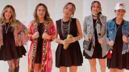 De elegante a casual: Andrea Legarreta crea múltiples combinaciones de estilos con un vestido negro