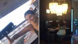 Aislinn Derbez no solo sabe limpiar parabrisas, también toca el piano, y lo hace excelente