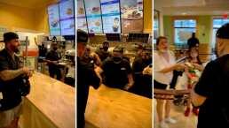 Este es el momento en el que Nicky Jam les regaló dinero a trabajadores de un restaurante