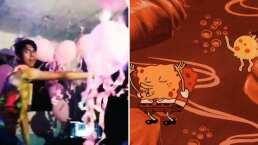 Al estilo Bob Esponja, este chico hizo su propia fiesta de medusas