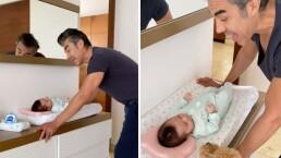 El video más tierno de Adrián Uribe y su pequeña hija