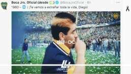 Boca homenajeó a Diego Maradona con grandes imágenes