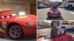 El hijo de Ariadne Díaz también hace 'kuchau' y se estaciona al estilo de Rayo McQueen
