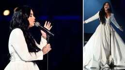 Demi Lovato se conmueve hasta las lágrimas y tiene que volver a cantar su canción en los Grammy 2020