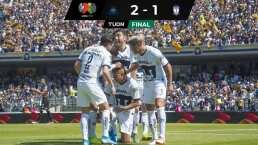 Pumas gana a Pachuca con golazo de Sebastián Saucedo