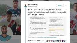 Jugador promesa de River Plate busca equipo en Twitter