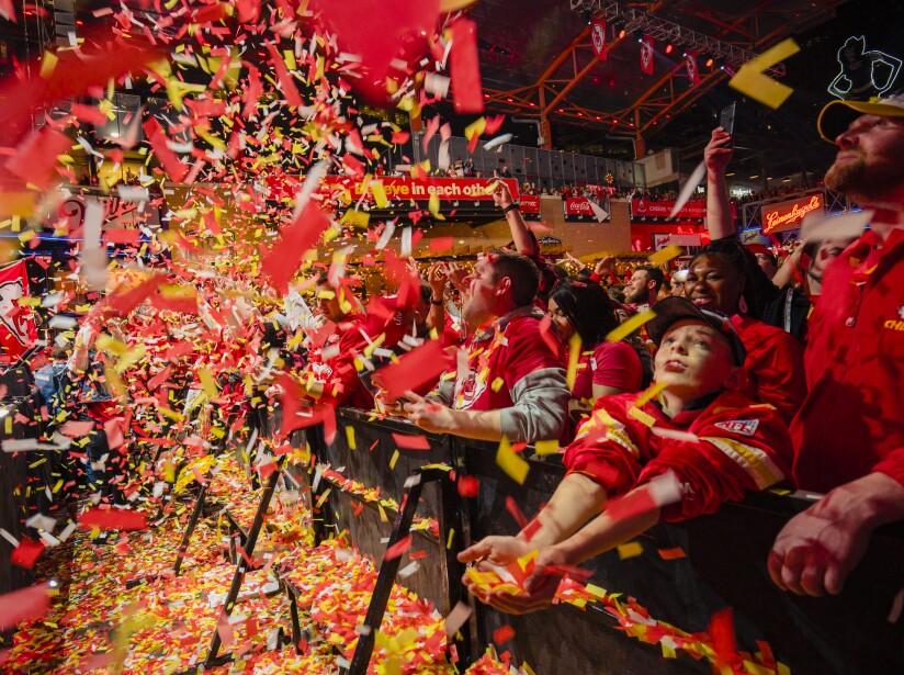 Kansas City Chiefs Fans Watch Super Bowl LIV Against The San Francisco 49ers