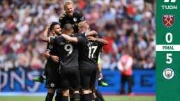 Manchester City llena de mazos a 'Chicharito' y West Ham