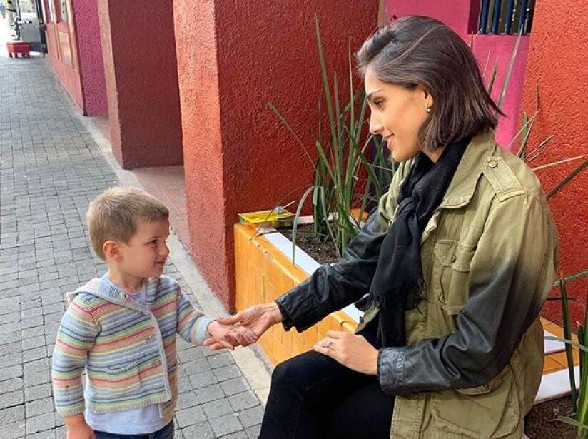 Momentos más tierno entre Sandra Echeverría y su hijo, Andrés de Lozanne