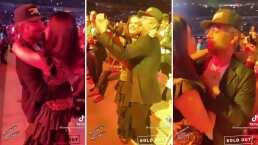 Omar Chaparro y 'La Mojarrita' se lanzaron al concierto de Los Bukis y bailaron románticamente