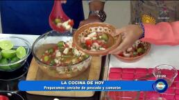 Cocina delicioso ceviche