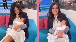 Andrea Legarreta cae rendida ante la belleza de Lucca, hijo de Mariana Echeverría