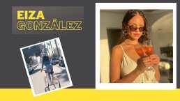 Eiza González cae al suelo por saludar mientras andaba en bicicleta